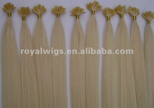 Silky straight color 24# nail pre-bonded hair extention