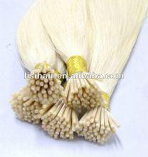 Velvet white blond #60 I tip keratin hair extension