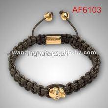 New Arrivals gold skull shape faith love hope bracelet discount price