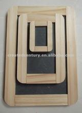 natural de la pizarra pizarra con marco de madera