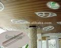 Compuesto plástico de madera decorativos deltoides astilla, azulejo del techo