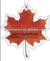 Maple leaf paper air freshener wholesale