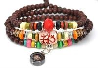 Fashion exotic custom brown charm handmade leather bracelet jewelry HW386
