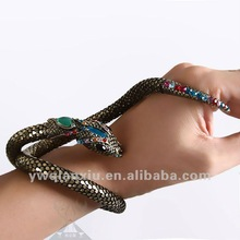 2012 wholesale indian accessory for women snake bracelet for belly dance