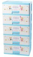 2012 hot sale 5 drawer colorful plastic storage box