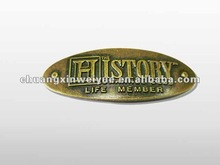 brass-plated embossed metal plate