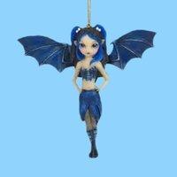 Hot Sale Resin Cartoon Cute Blue Elf Bat Figurine