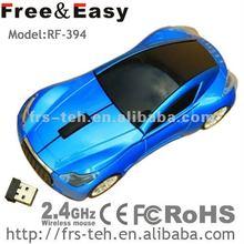New 3d mini racing car wireless laptop mouse