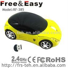 customized brand 2.4Ghz mini car shape wireless mouse
