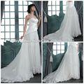 venta caliente sweeheart sin respaldo sin mangas de encaje satinado el líbano vestidos de novia cb2087