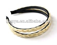 Beautiful blond braid hair band, braid head band with elastic hair band and two braids