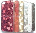 Wholesale New Arrival Fashionable Stone Texture Bling Bling Case for iPhone5, PC+Chroming Case, cell phone accessory
