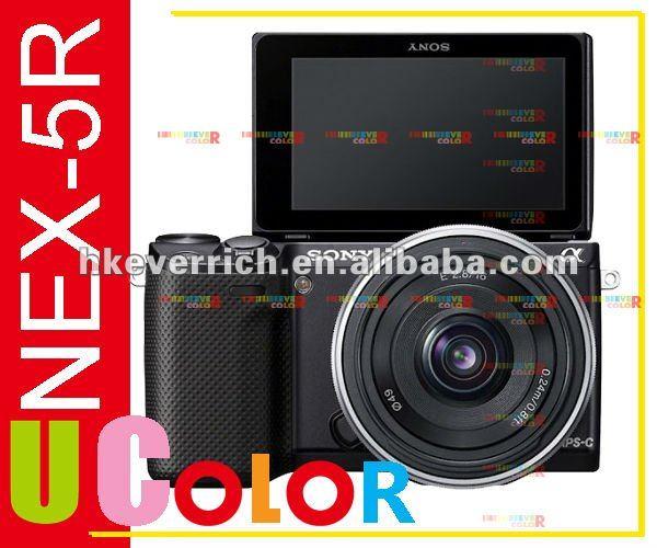Genuine Sony NEX-5R 16.1MP Wi-Fi Digital Camera with E 16-50mm & 55-210mm 2 Lens Kit