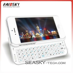 Ultra thin Mini Wireless Slide-out bluetooth keyboard for iphone5