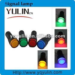 YL1-16C plastic 24v 10mm electric yellow mini led motorcycle signal light