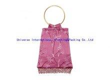 2012 Shining fashion brocade shopping handbag