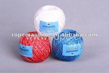 Ropeking assorted color raffia splitfilm twisted pp yarn for sale