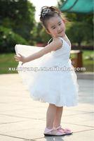 backless princess kids wedding dress children's day party dress