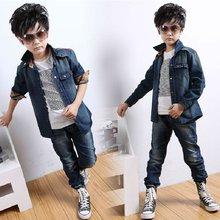 Long sleeve style canvas boy's coat,fashion Jeans kid coats