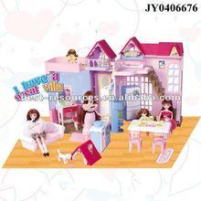 Fashion doll furniture doll house toy villa Lelia dream villa EN71 ASTM