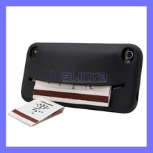 Credit Card Slot Wallet Case For iPhone 4 4S