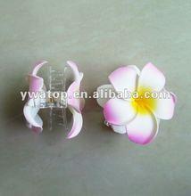 Frangipani havaiano Plumeria espuma de EVA da flor cabelo garras