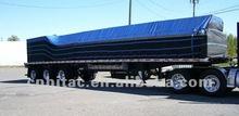 8' x 25' x 8' Drops & Front Flap 14 Oz Vinyl Flat Bed Truck Tarp