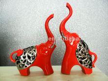Red ceramic christmas elephant ornaments