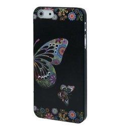 Beautiful Butterflies Pattern Plastic Case for iPhone 5 (Black)