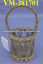 wicker candle holder in new woven style