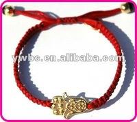 hamsa hand braid nylon bracelet 1 gram gold jewellery (B129974)