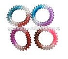 Hot-selling Kids/women Rock&roll Spiral Bracelets& Spiral band with mixed colors