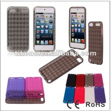 Rhombus line tpu case for ipod touch5/ tpu gel cover skin for new apple ipod touch5