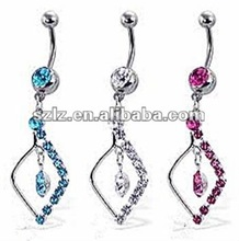 2012 hot sale navel rings diamond