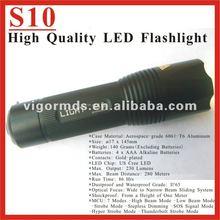 (S10) 5.7inch 7 MCU Modes US Cree LED High Power Style Flashlight