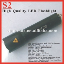 (S2) 5 inch 4 MCU Modes 200 Lumens High Power LED Flashlight