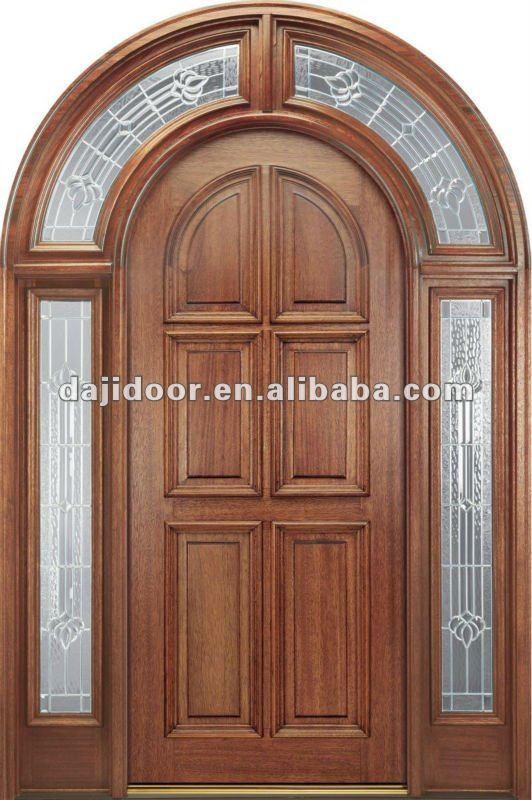 Round top main entrance doors design side lites dj s6060m for Round door design