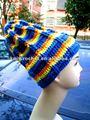 2012 colorido da moda meninas chunky crochet gorro listrado chapéu, crochet rasta chapéu do beanie ( kcc - cr0052 )