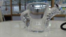 2012 new product canton fair sample unique design wolf shape shot glass