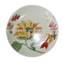 Spring flower shape porcelain plate dishes