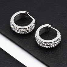 Stainless Steel Rhinestone Earrings 2012(AE10109)