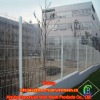 PVC coated welded peach shaped post residential wire mesh fence