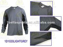 2012 brand long sleeve jersey custom sports T-shirt, legging t shirts Atheletic jersey moisture wicking jersey coverstiching