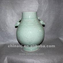 beautiful hand made celadon ceramic jar RYVE02