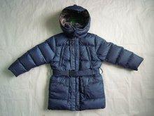 Wholesale & Retail Women Hooded Belt Down Coat/Jacket--Blue