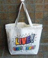 2013 Printed 100% Cotton Fashion Tote Bag