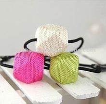 Diamond braided hair ring cartoon hairpins