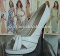 la parte superior caliente vela de mujeres sandalias de la bomba de la pu blanco zapatos zapatos de tacón alto zapatos de facotry