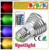 3W E27 RGB LED lamp with remote controller color changing bulbs lighting