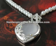 wholesale fashion pearl&loving heart necklace